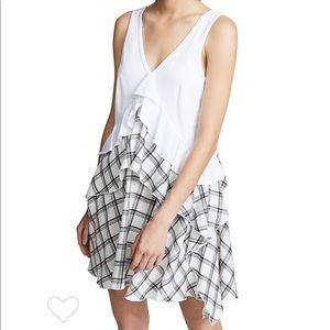 Opening Ceremony Plaid Mix Ruffle Skirt Dress M 8
